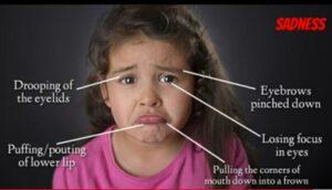 Sadness micro expression