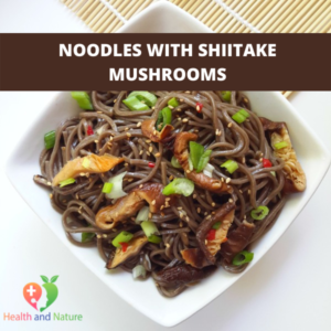 noodles with shiitake mushrooms
