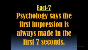 Psychological facts about first impression